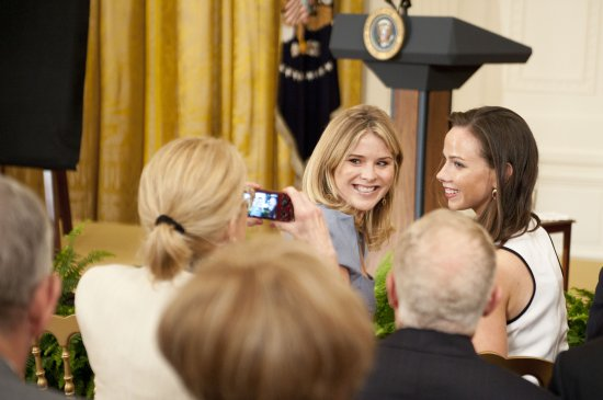 WASHINGTON, DC - MAY 31: Jenna Bush-Hager and Barbara Bush attend the George W. Bush and Laura Bush Portrait unveiling at the White House on May 31, 2012 in Washington, DC. (Photo by Leigh Vogel/WireImage)